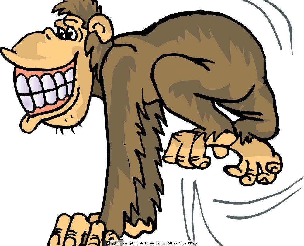 猴子卡通图 矢量图库