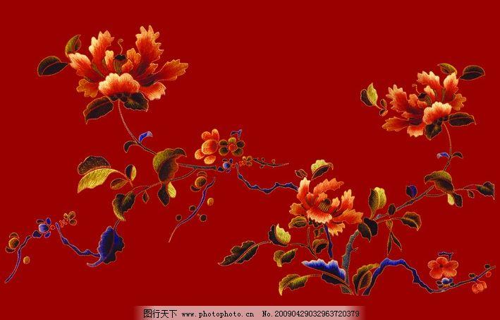 牡丹花 传统花纹 边缘烫金 psd分层素材 背景素材 源文件库 300dpi ps