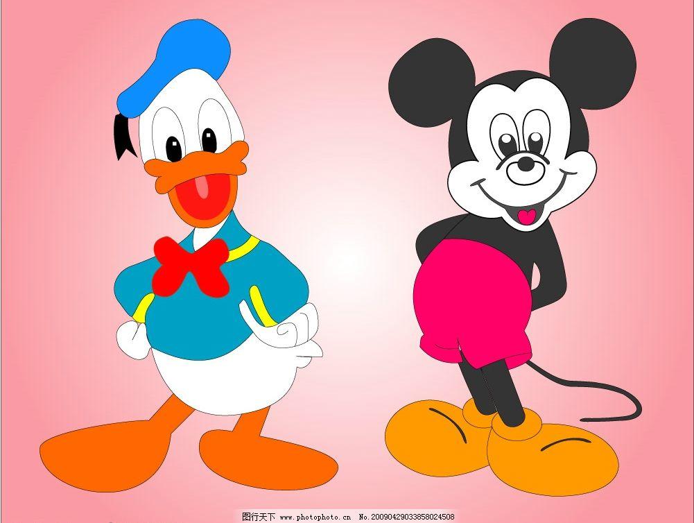 米老鼠和唐老鸭 米老鼠 唐老鸭 卡通 其他矢量 矢量素材 矢量图库 cdr