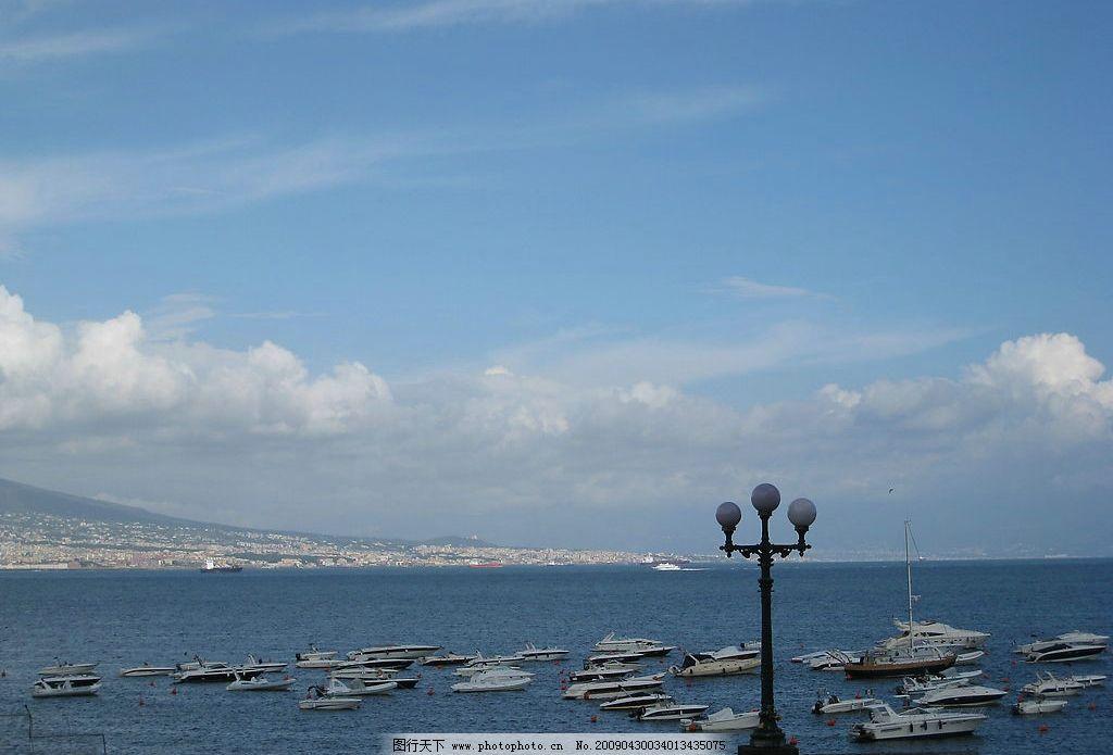 欧洲风景 蓝天 白云 海 船 旅游摄影 国外旅游 摄影图库 180dpi jpg