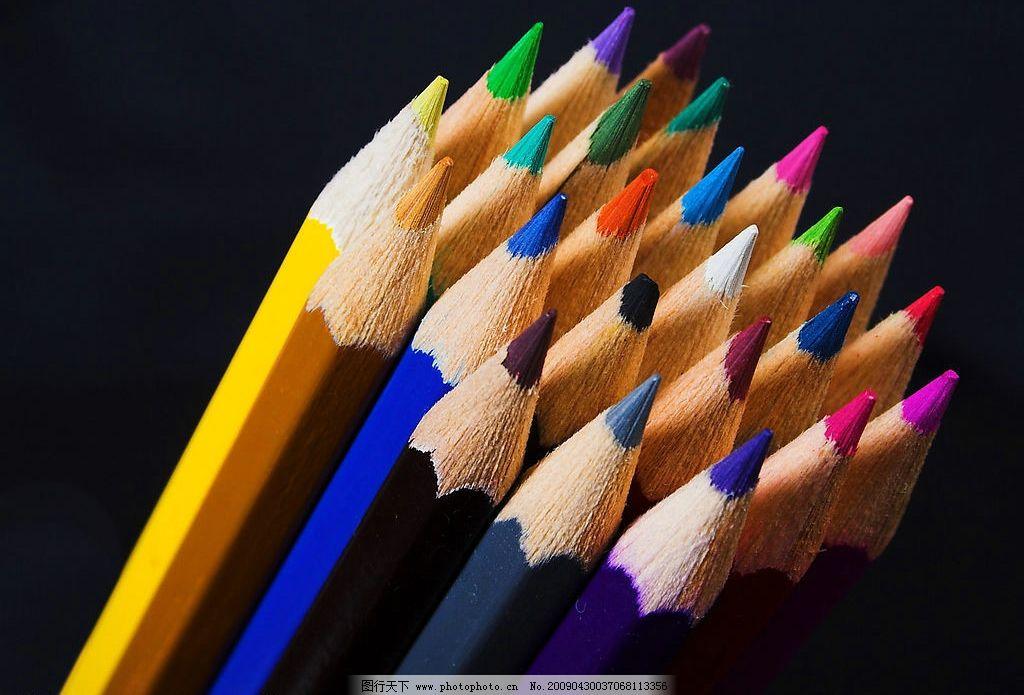 彩色铅笔 铅笔 创意图案 办公用品 笔 生活百科 生活素材 摄影图库 7
