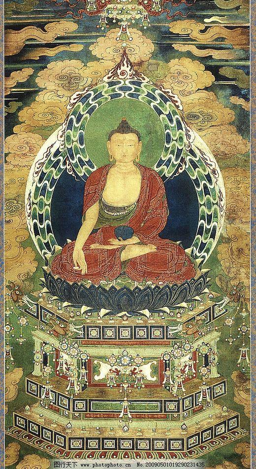释迦牟尼2 释迦牟尼1 释迦牟尼佛 清代 水陆画 佛画 文化艺术 宗教