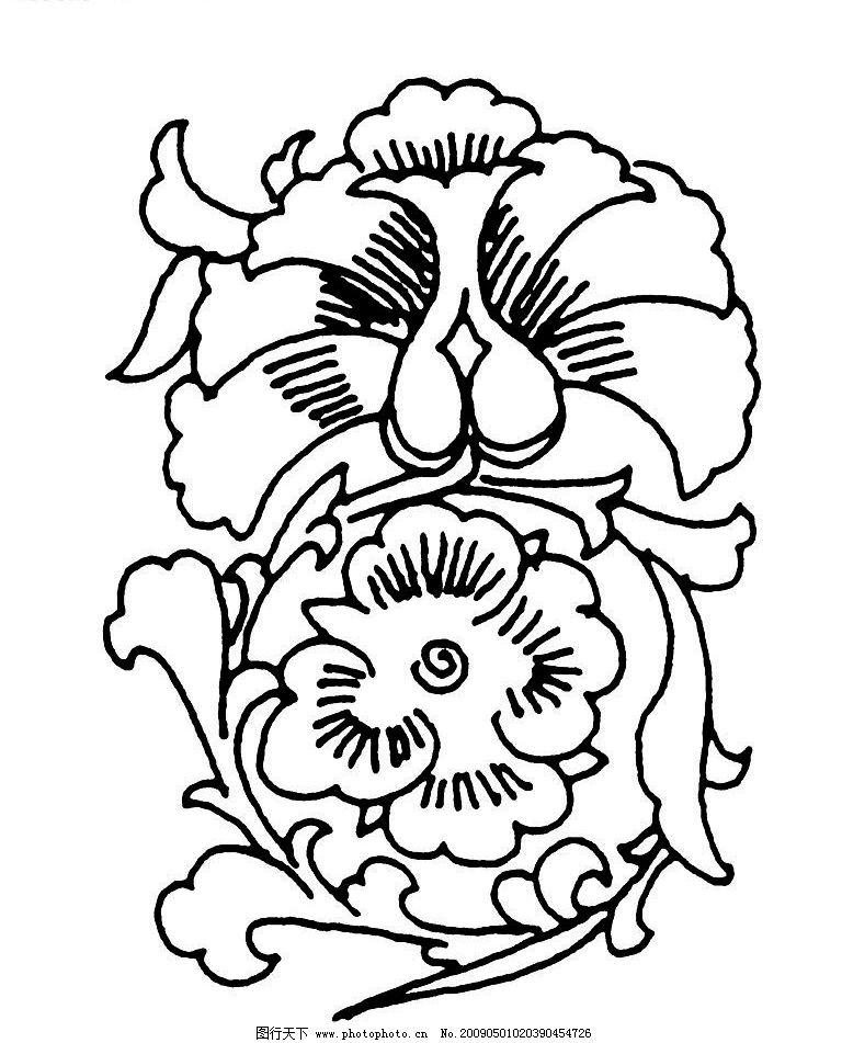 唐代素材 唐朝 古典 古代 图案 花边 底纹 黑白 底纹边框 花边花纹