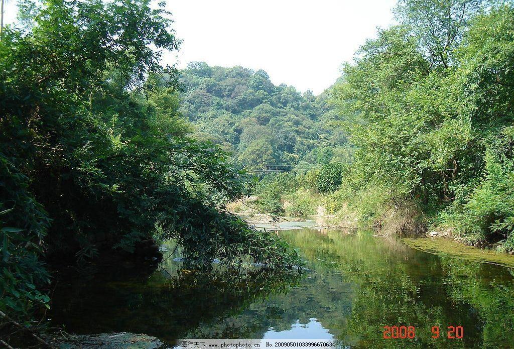 自然风光 小溪 树水 风景 桂林风景 恭城风景 国内旅游 摄影图库