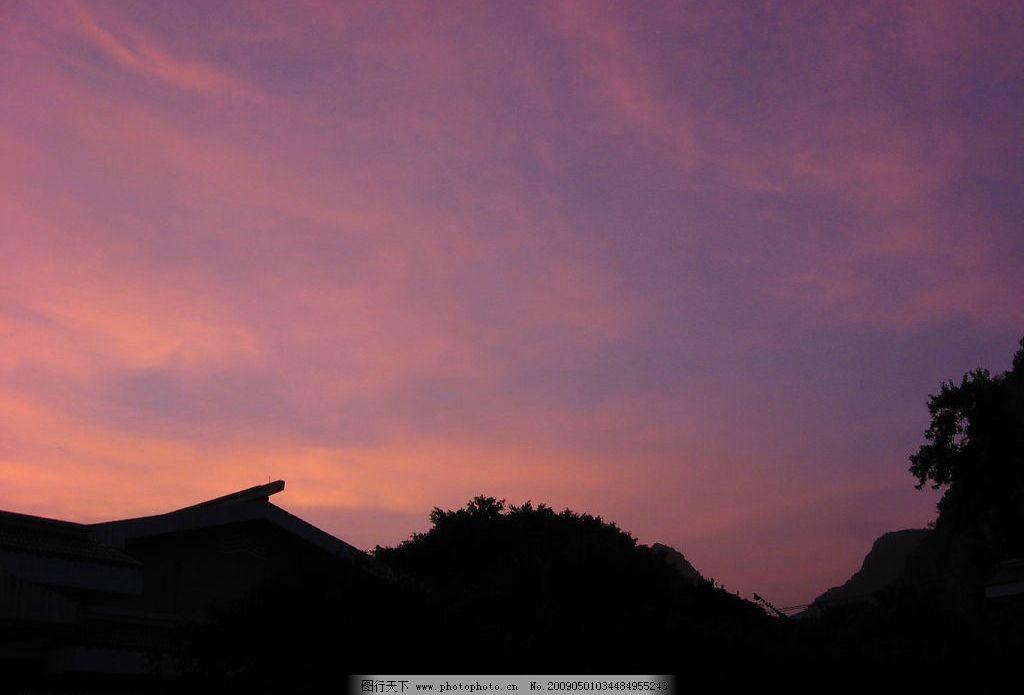 红霞胜景 晚霞 自然景色 天空 自然景观 山水风景 摄影图库