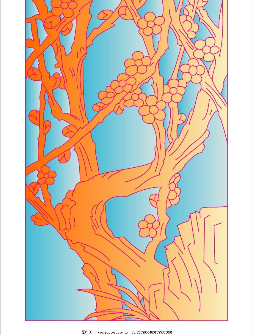梅花 假山 广告设计 其他设计 矢量图库 cdr