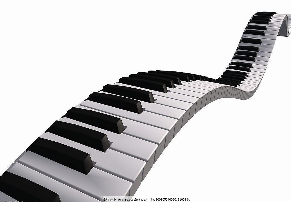 钢琴琴键图片