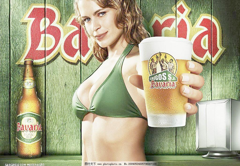 比基尼美女 其他 人物摄影 人物图库 摄影图库 啤酒广告图片素材下载