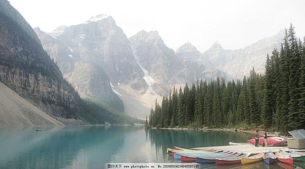 山川风景 美丽风景 蓝天 白云 云层 天空 树木 高山 景色 山峰 湖泊