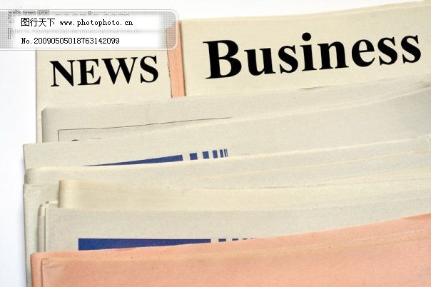 高清晰英文报纸系列图片素材