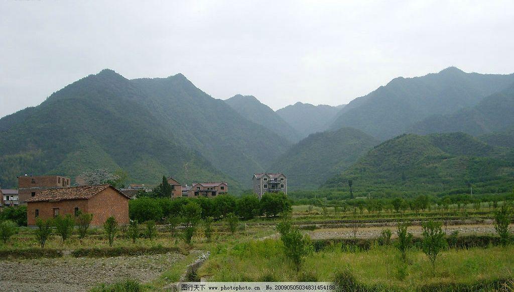 自然 景色 风光 山 田野 远山 田园 景观 群山 自然景观 自然风景