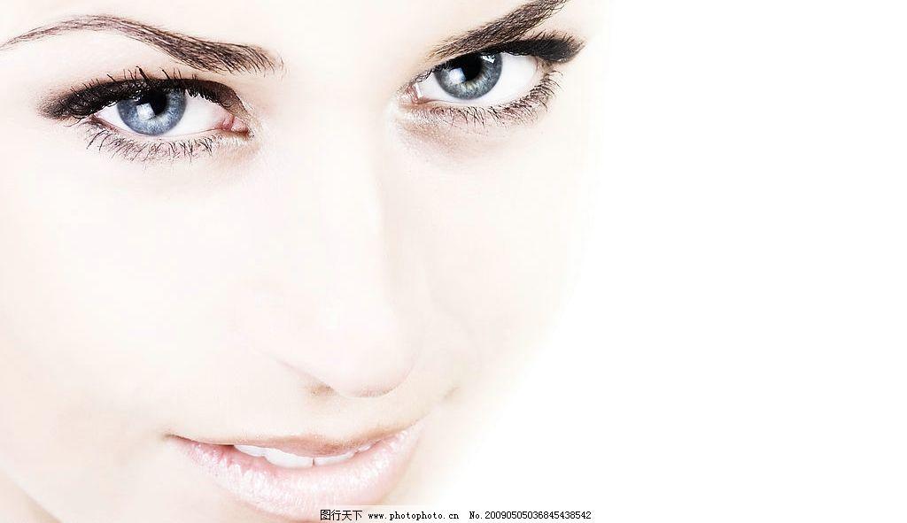 脸部特写 国外美女 欧美女性人物 美容广告人物 面部 睫毛 眼睛 护肤