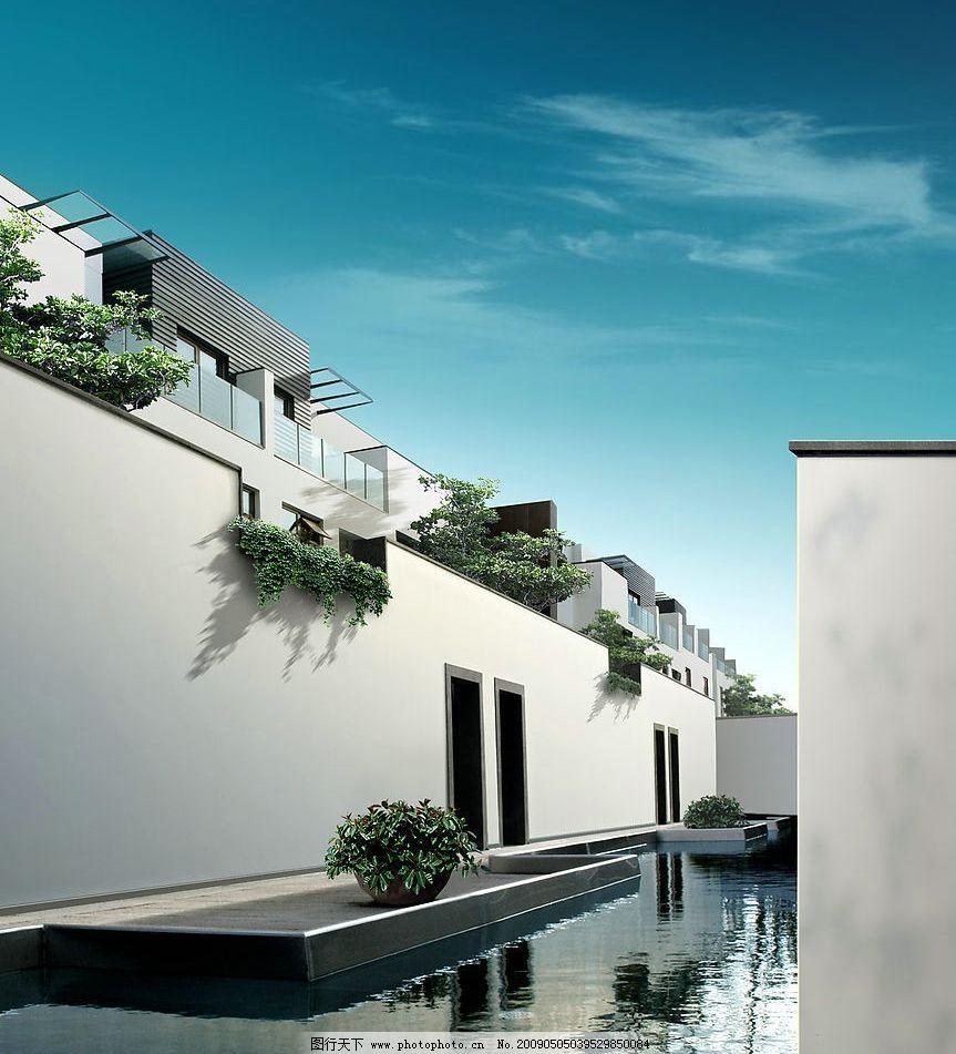 中式庭院 古典 万科 本案 中式风格 建筑园林 园林建筑 摄影图库