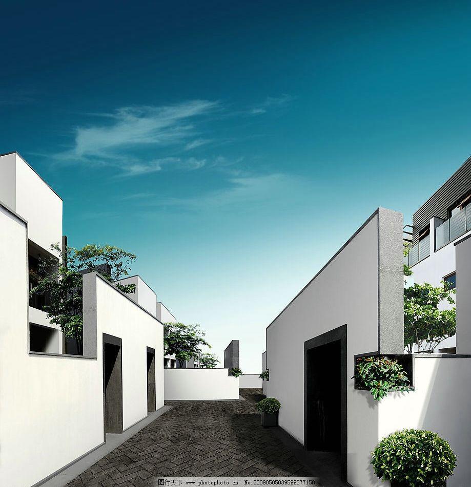 中式庭院 中式风格 园林 建筑 白色建筑 简约风格 唯美建筑 建筑园林