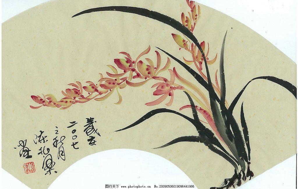中国画 兰花图片