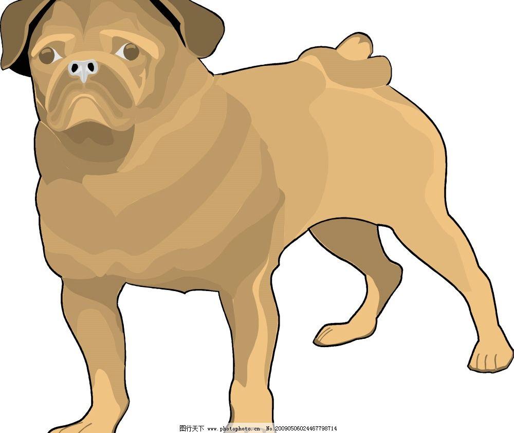 狗狗 狗 生物世界 野生动物 矢量图库 wmf