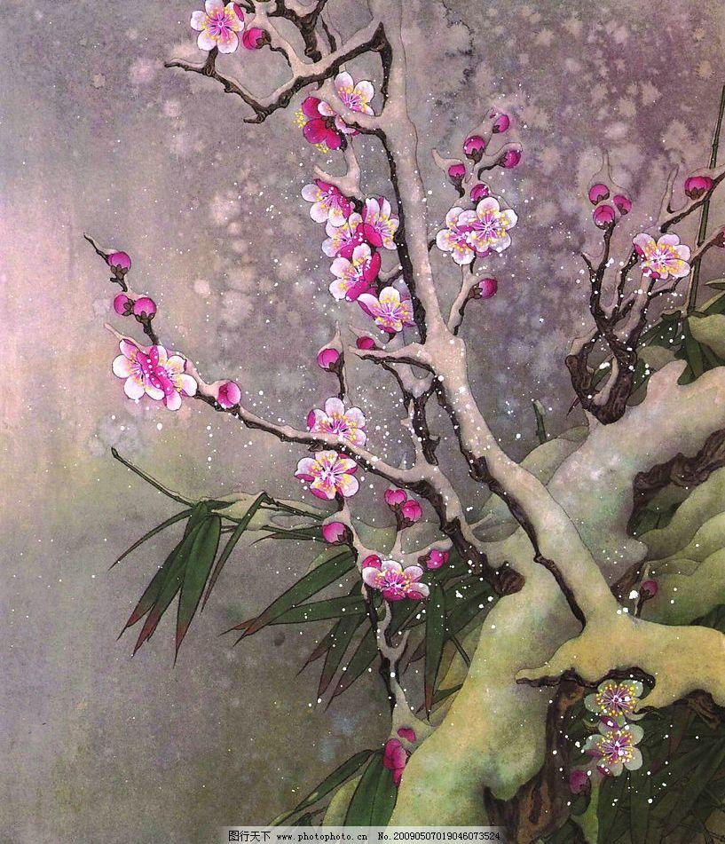 花卉画谱 工笔画线描 茶花篇 菊花篇 牡丹篇 梅花篇 近代绘画 现代会