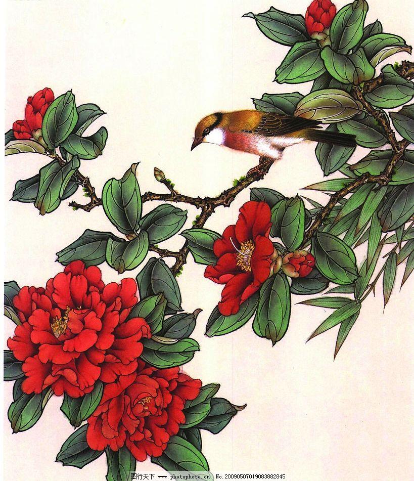 牡丹篇 工笔画线描花卉画谱