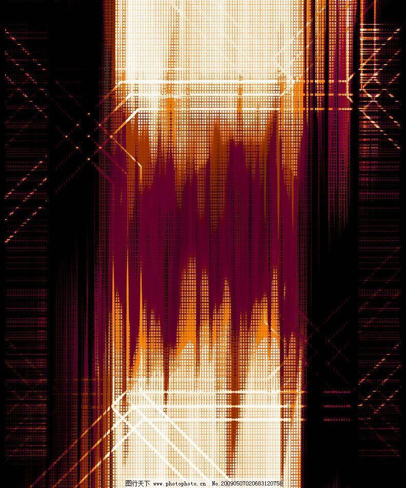 暗红色光束抽象背景图片