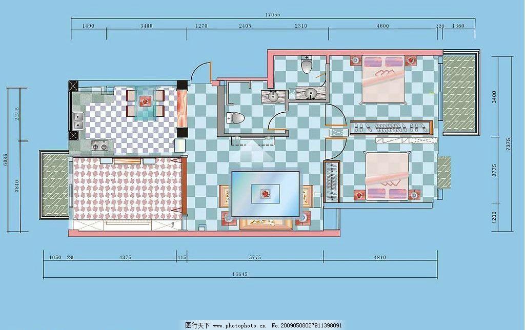 室内设计平面图 家具 家居