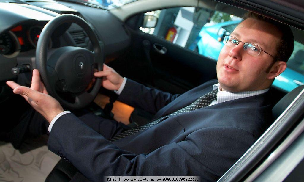 商务人士 商务 驾驶员 驾驶 方向盘 眼镜 商务金融 商务素材 摄影图库