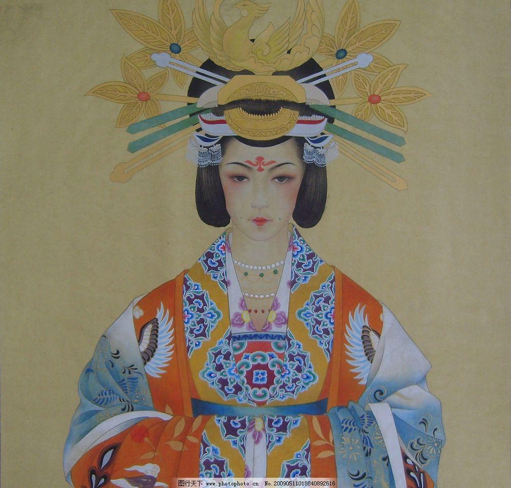唐钿钗礼服图片,唐代 唐朝服饰 敦煌壁画 供养人像-图图片