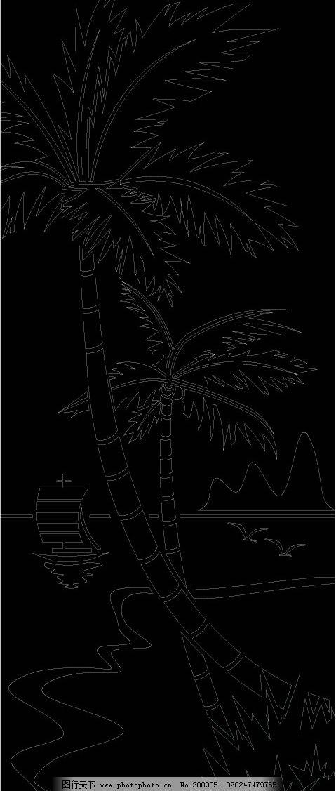 移动门花纹 树 底纹图片