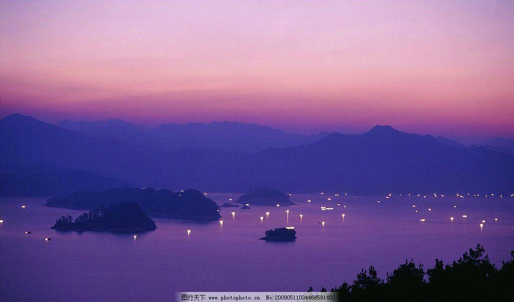 千岛湖 自然景观 山水风景 摄影图库 600dpi jpg