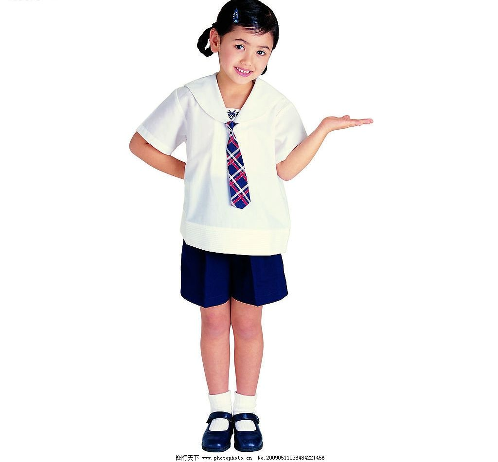 儿童 幼儿 小女孩 小朋友 小可爱 学生 邀请 动作 校服 看书 人物图库