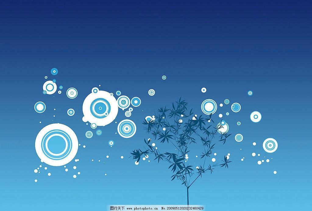 蓝圈圈 蓝色背景 花纹 底纹边框 背景底纹