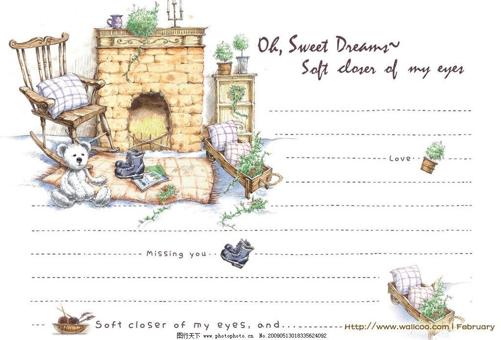 彼得兔的童话 信纸 动漫动画 动漫人物 设计图库 72dpi jpg