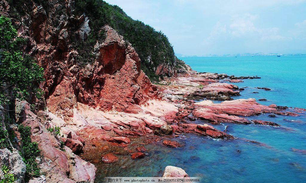 海边 天涯 海角 海岸线 大亚湾 红排角 南澳 大海 碧海 蓝天 白云