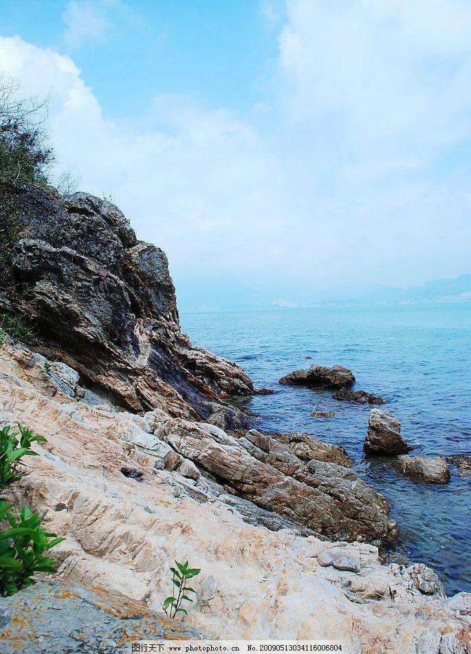 海边 天涯 海角 穿越 海岸线 大亚湾 红排角 南澳 大海 碧海 蓝天