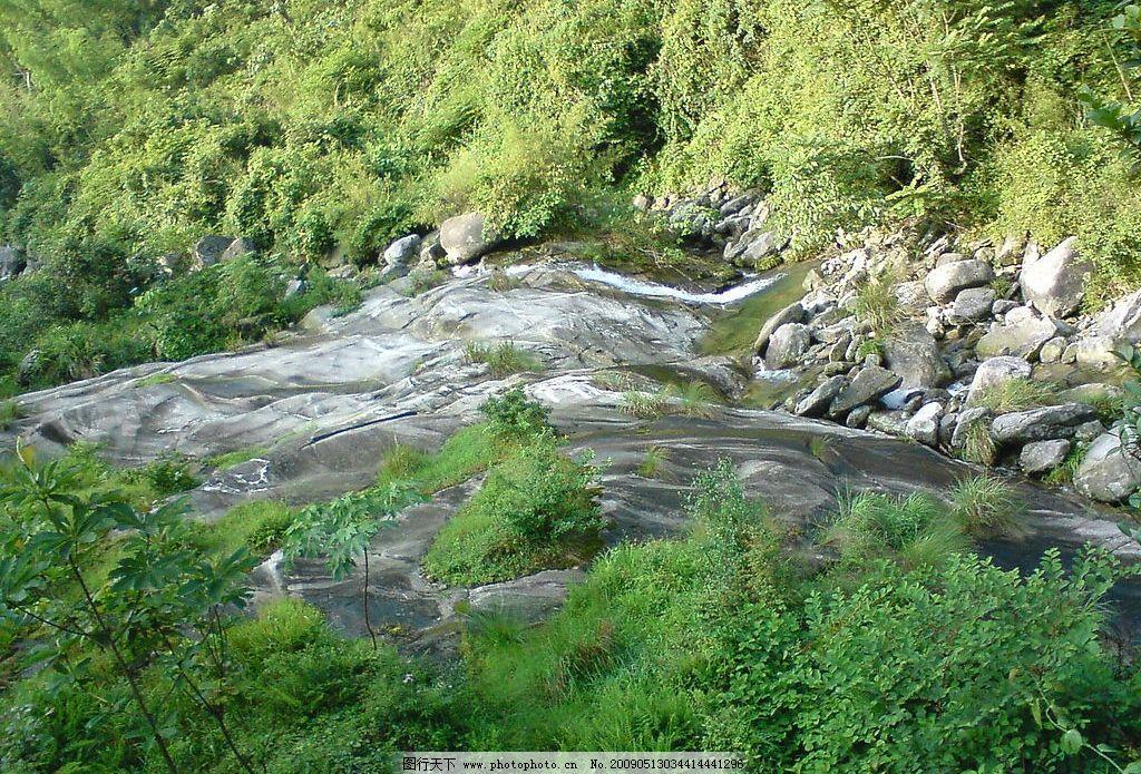 小溪 小河 流水 石涧 深山 干涸的小河 自然景观 山水风景 摄影图库