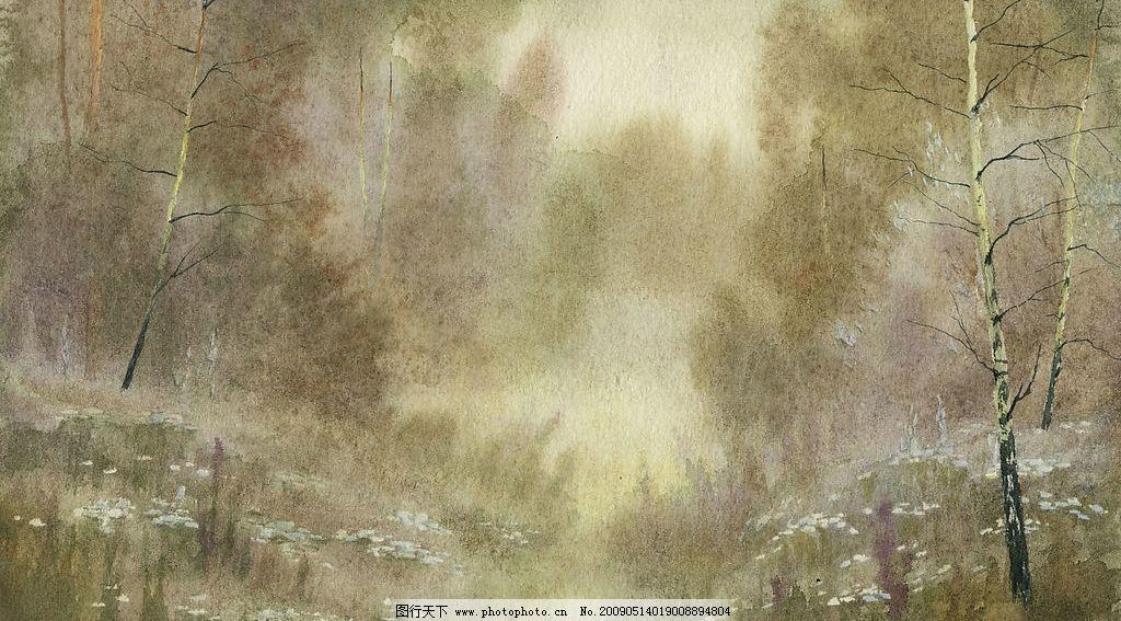 山寨 山 水 树 风景 梦幻 手绘 自然景观 自然风光 设计图库 72dpi