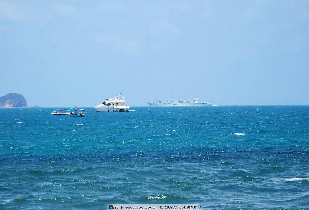 军舰和游艇 海南 三亚 大海 沙滩 大东海 军舰 游艇 旅游摄影 自然