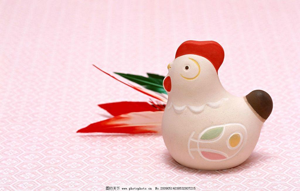 十二生肖之酉鸡 鸡 酉鸡 生肖鸡 陶艺 文化艺术 传统文化 摄影图库