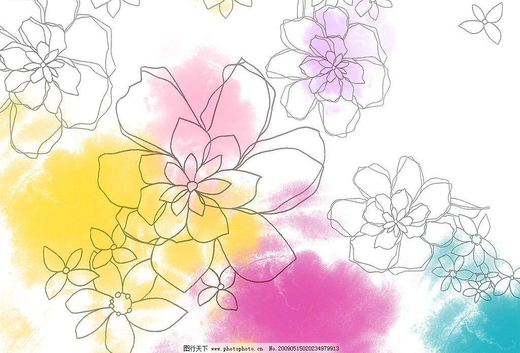 手绘花朵图片_背景底纹_底纹边框_图行天下图库