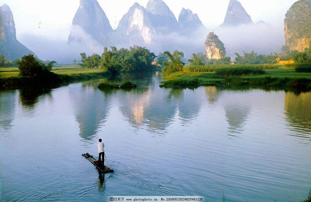 桂林山水 桂林山水甲天下 河流 大自然 攝影圖庫