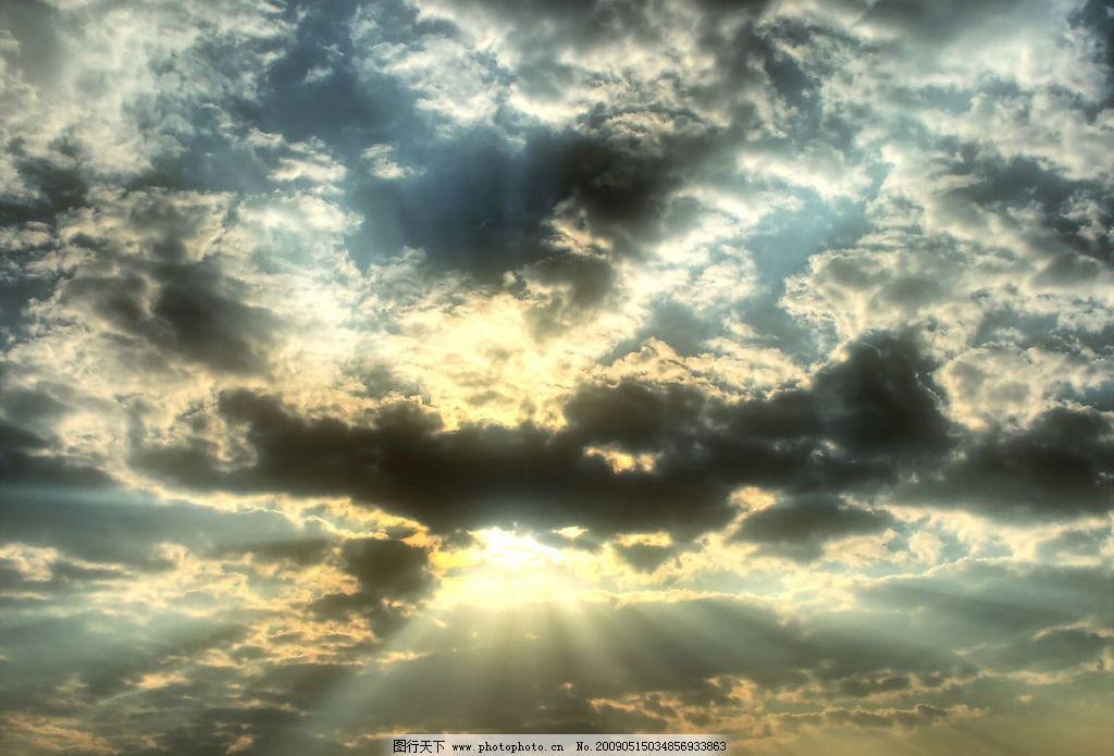 云中日 美丽风景 蓝天 白云 云层 天空 景色 阳光 太阳 自然景观 自然
