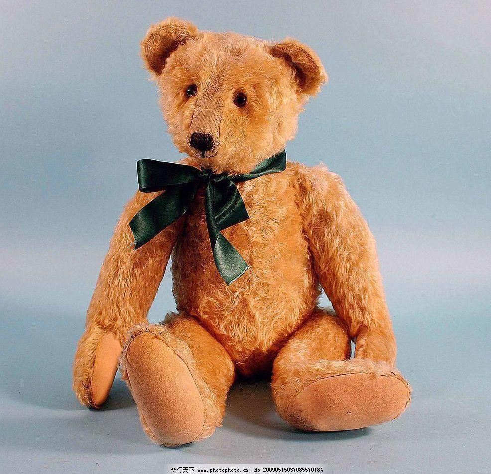 玩具熊 棕色 小熊 毛绒 玩偶 儿童 可爱 坐 生活素材 摄影图库