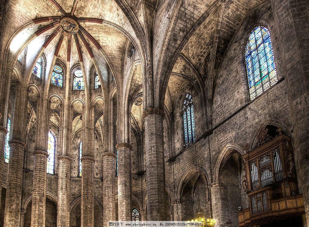 教堂 欧式教堂 西方建筑 巴洛克风格 拱形 圆顶 建筑园林 建筑摄影