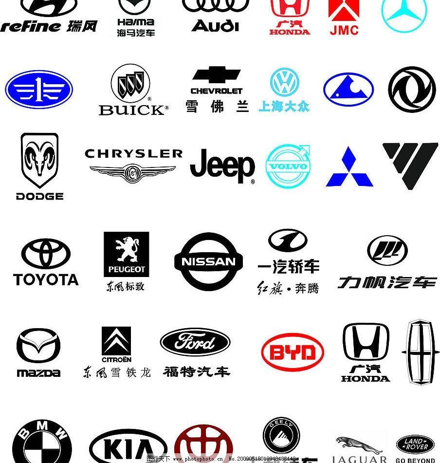 汽车标志大全(部分logo为位图)图片