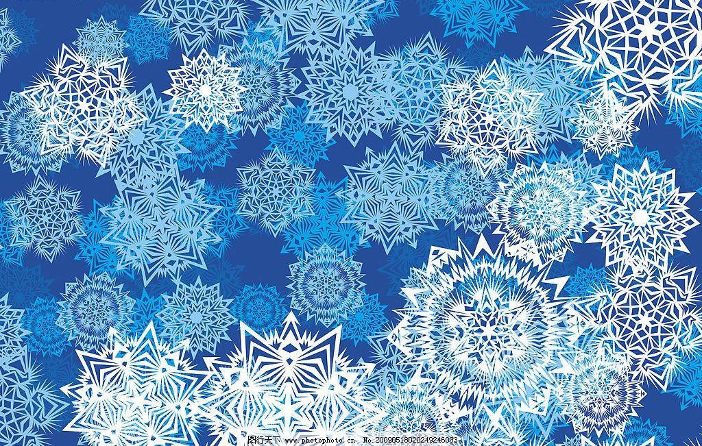 圣诞雪花图片_背景底纹_底纹边框_图行天下图库