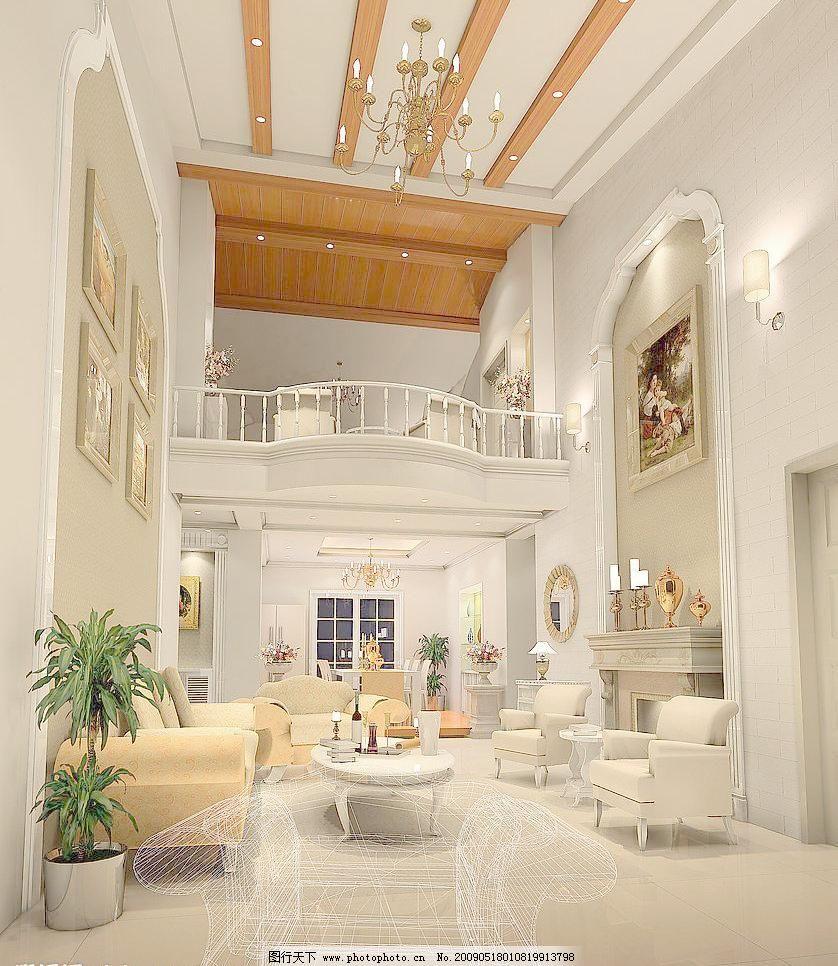 欧式别墅客厅设计图片