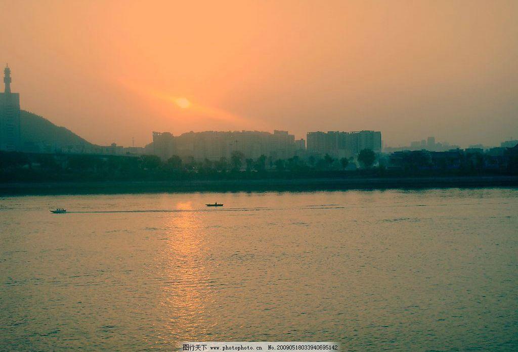 江边夕阳 江边 城市 夕阳 长沙 湘江 旅游摄影 国内旅游 摄影图库 72