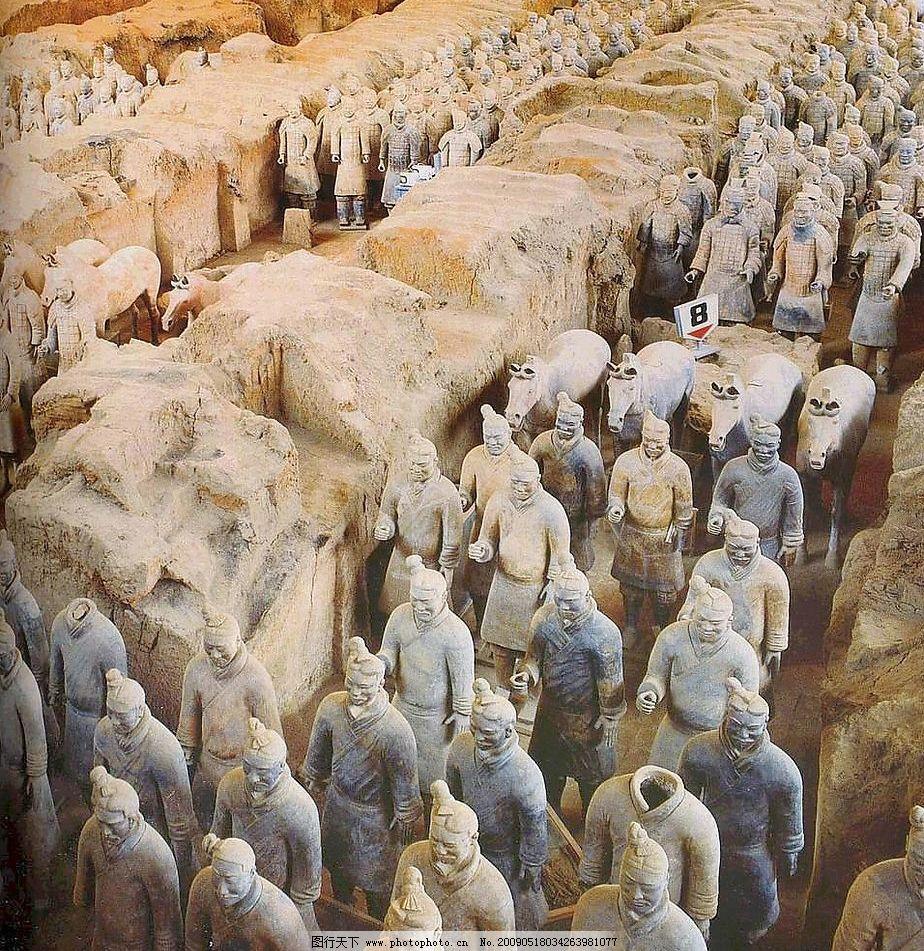 兵马俑 世界第八大奇迹 陕西名胜古迹 旅游摄影 人文景观 摄影图库