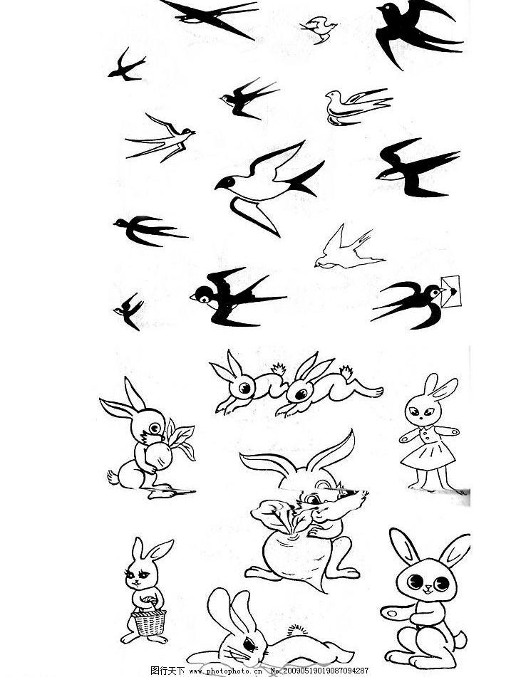小燕子小白兔 动物扫描