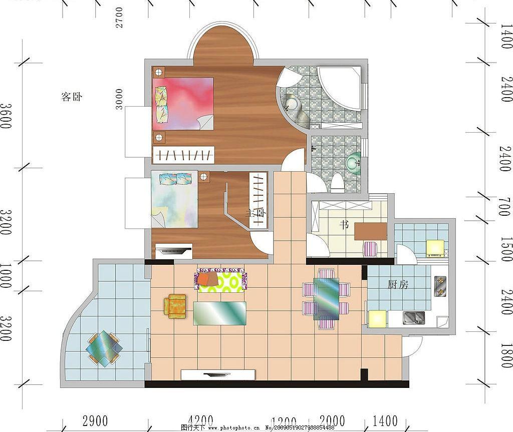 室内平面图 室内 平面 装修 户型 建筑家居 室内设计 矢量图库 cdr