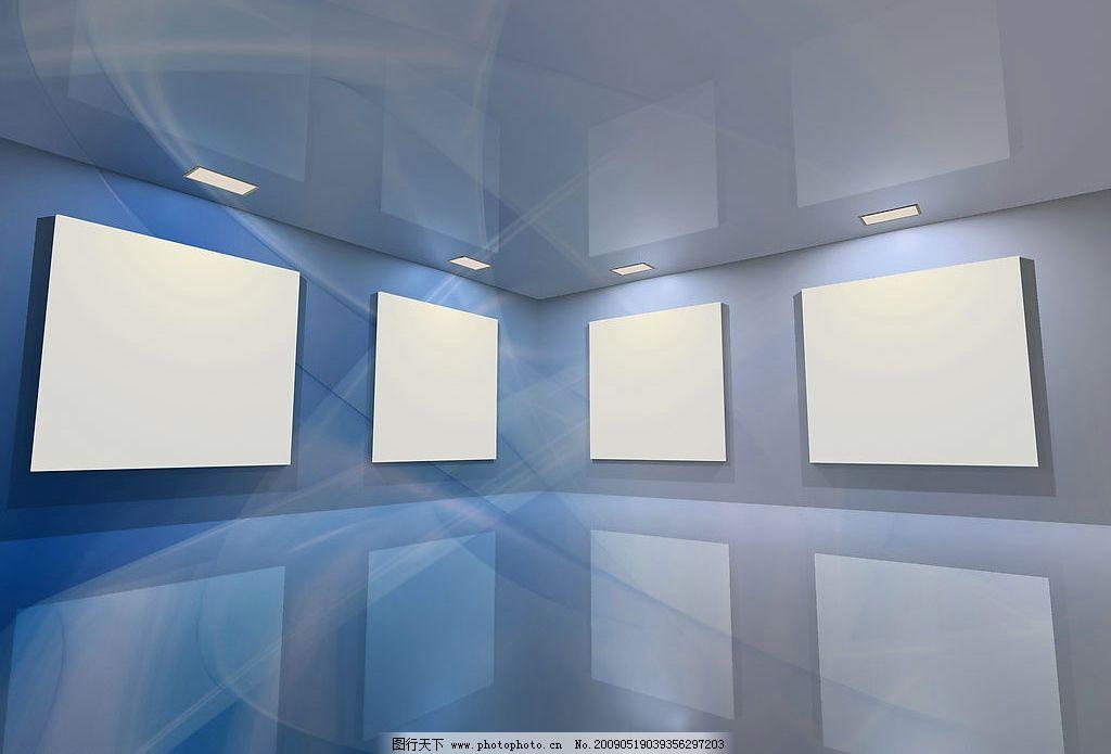 室内设计  展厅模板图片素材 展览 画廊 室内 作品展览 展示 画展